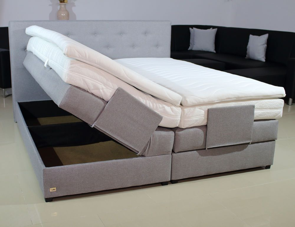 Boxspringbett Mit Bettkasten Taschenfederkern 160x200 Farbwahl Matratze H2 H3 H4 Ebay Boxspringbett Bett Matratze