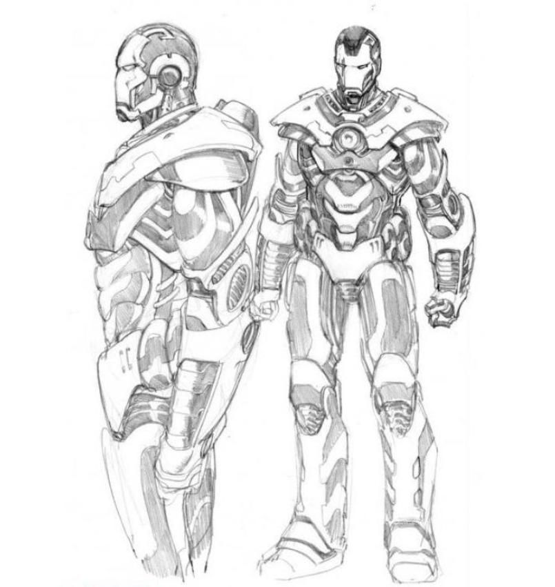 Download And Print Iron Man 2 War Machine Coloring Pages Geek