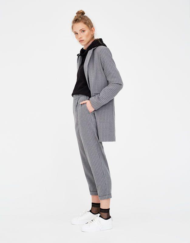 couleur attrayante le rapport qualité prix pas cher pour réduction Pantalon style jogging à rayures - Nouveautés - Femme ...