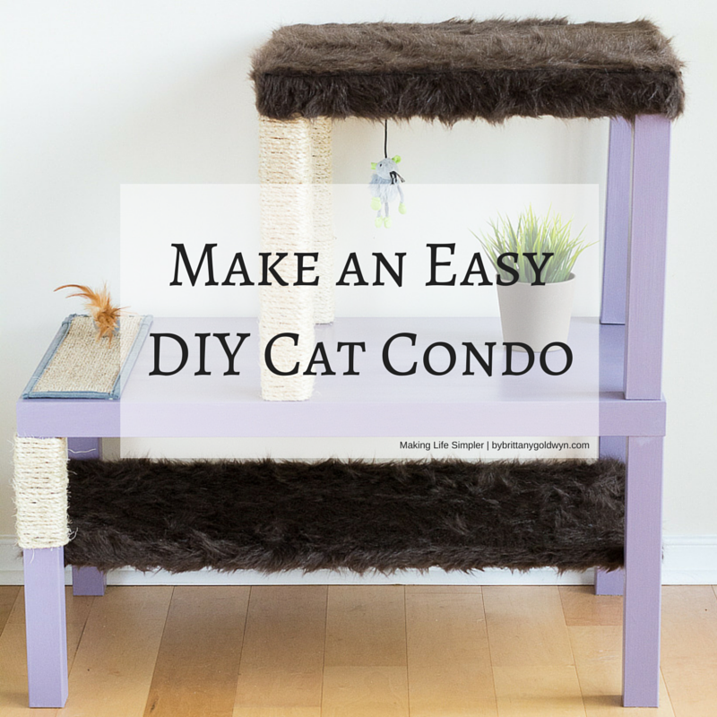 Learn how to make an easy affordable and aesthetically for Make a cat condo
