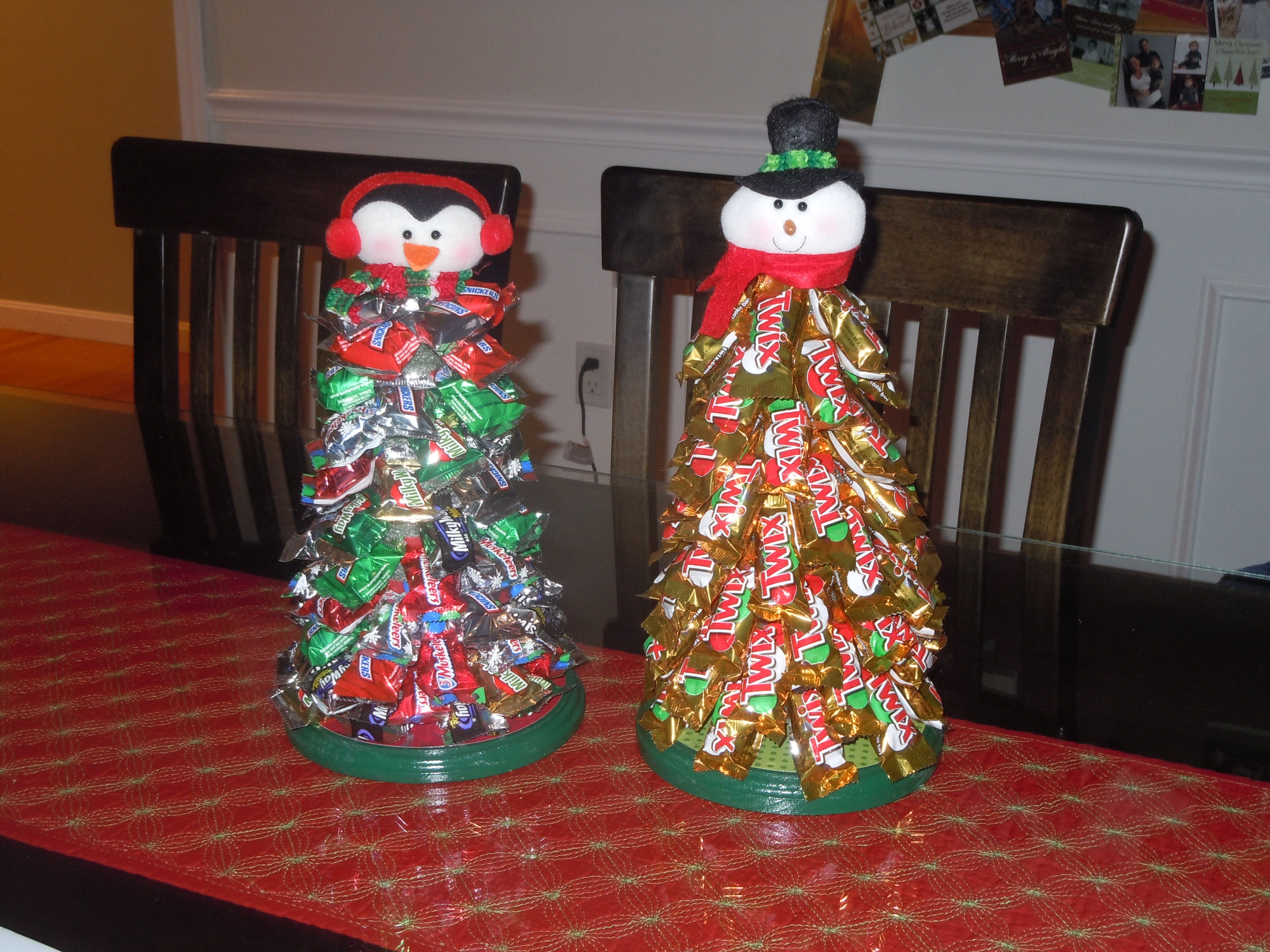 Candy bar Christmas trees | Things I made | Pinterest | Christmas ...