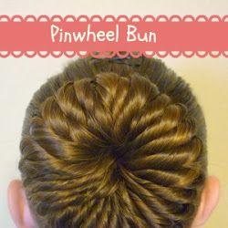Pinwheel Bun Hairstyle Tutorial