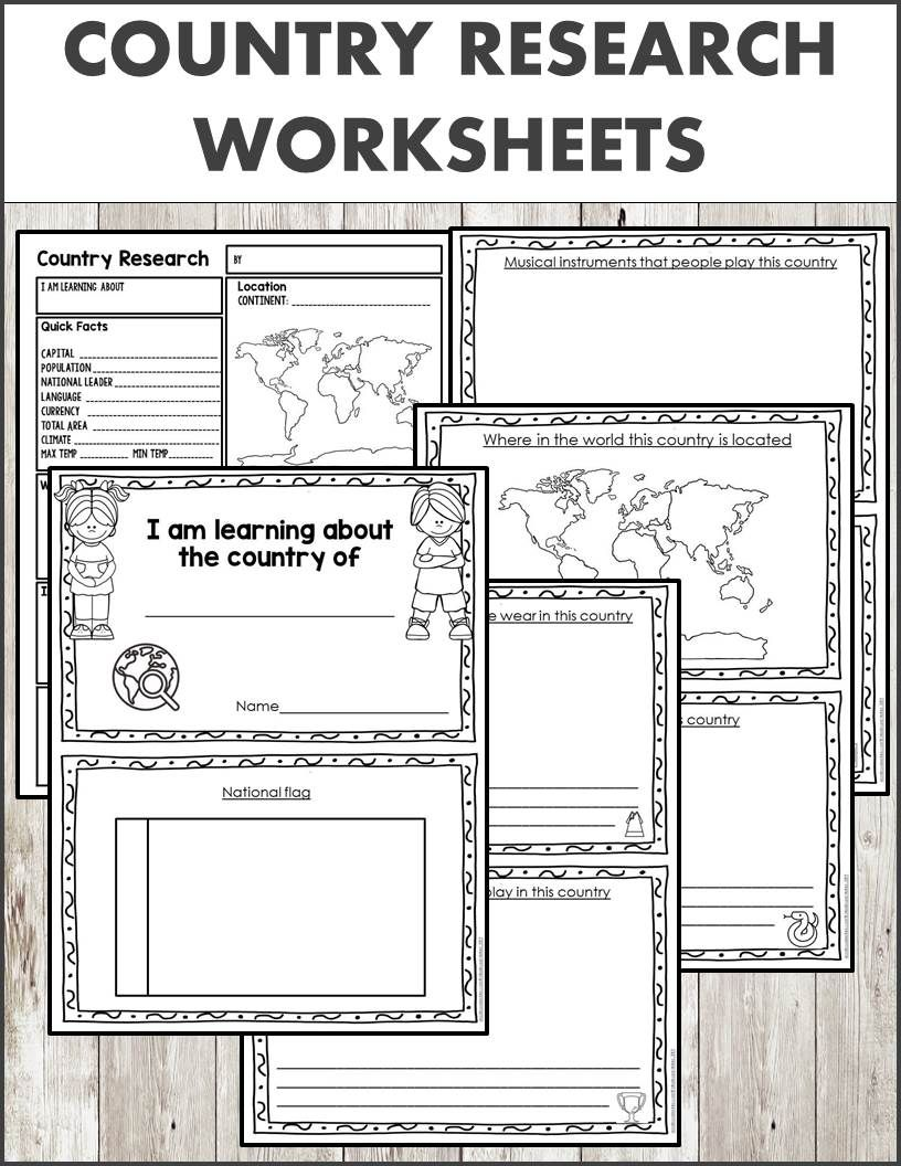Country Research Worksheets Country Booklet Homeschool Social Studies Worksheets