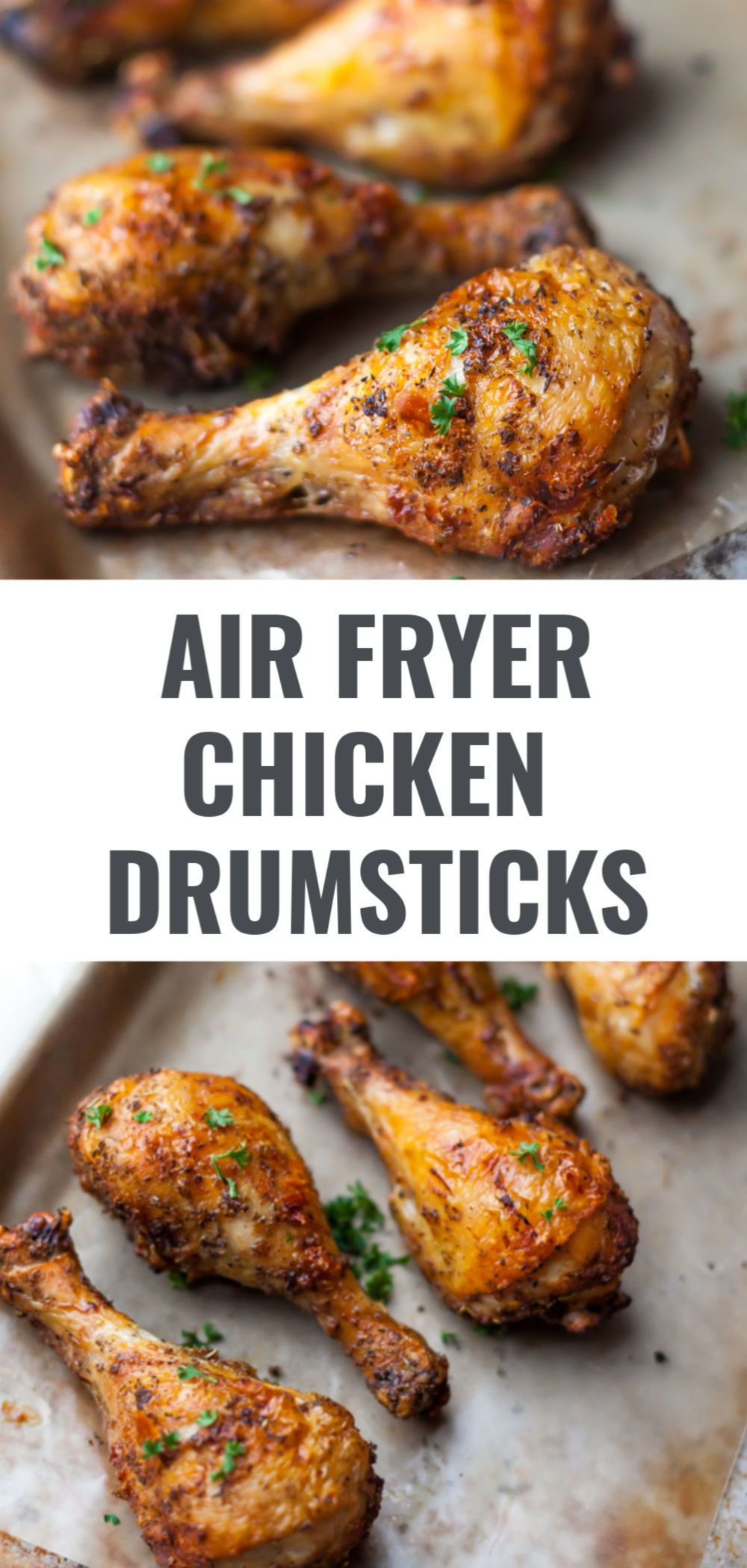 These easy and healthy air fryer drumsticks are crispy on