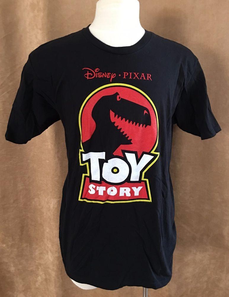 L Disney Pixar Toy Story T Shirt Black Rex Adult Logo