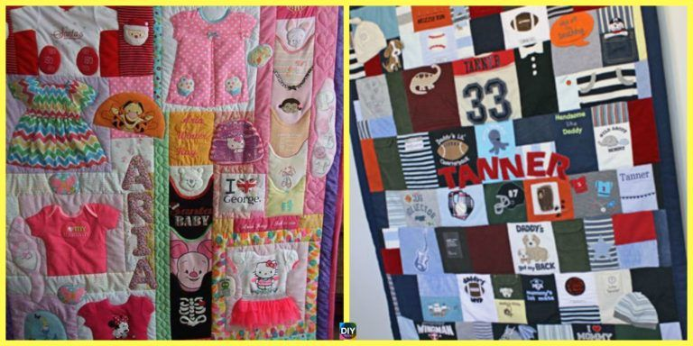 How to DIY Memory Baby Clothes Quilts is part of Baby clothes quilt, Quilts, Diy baby clothes, Diy quilt, Baby memory quilt, Memory quilt - There are so many precious memories associated with our children's baby clothes  What better way to keep it than with this DIY Memory Baby Clothes Quilts idea