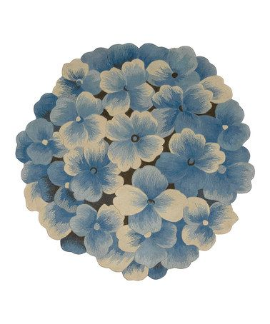 Take A Look At This Blue Wool Hydrangea Blooms Rug By