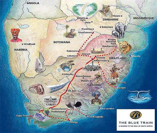 route map of south africa Blue Train South Africa Map South Africa Map Africa Map route map of south africa