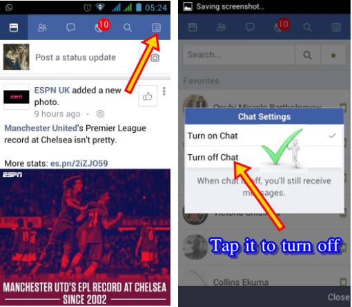How To Hide Online Status On Facebook Messenger Android Appear Offline On Fb Online Manchester United Premier League Facebook Messenger