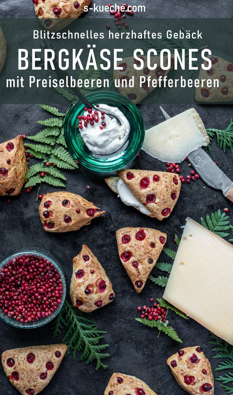 Herzhafte Mini Scones mit Bergkäse aus Tirol - Gebäck Klassiker mit Käse
