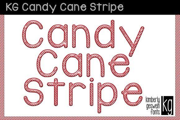 KG Candy Cane Stripe Font. Script Fonts. $5.00