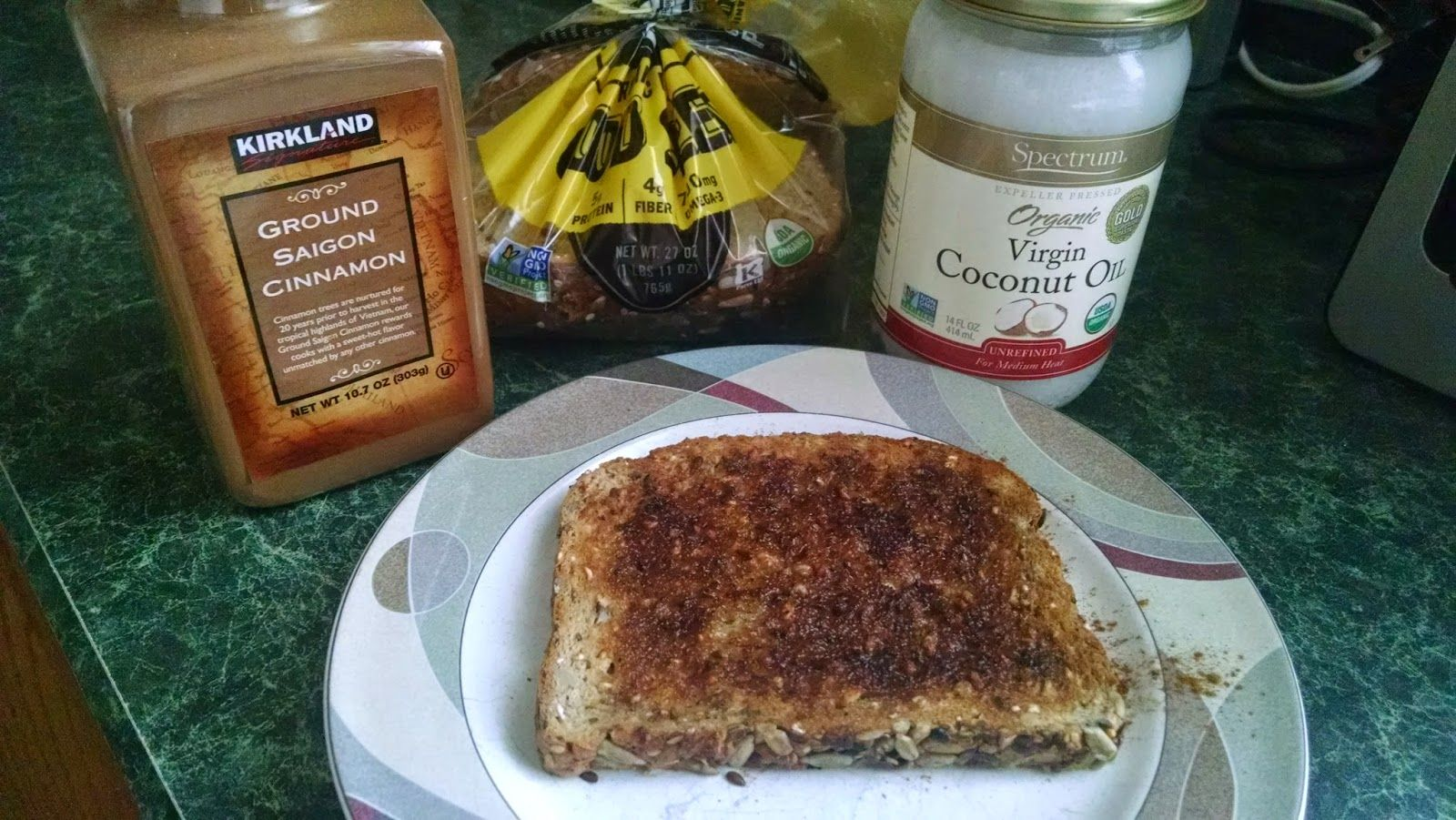 Mind, Body, Spirit News: Healthy Cinnamon Toast made with Coconut Oil