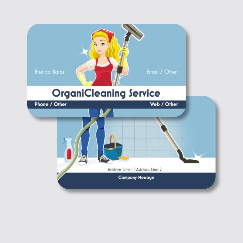 Personalized Rounded Corner Business Cards Standard Glossy Designs Cleaning Services Construction Repair Imp Construction Repair Cleaning Service Repair