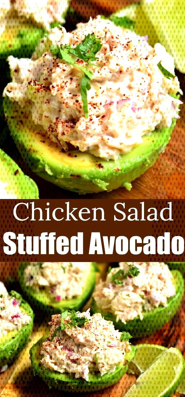 Gefüllte Avocado macht eine gesunde Mahlzeit aus cremigen, reifen Avocados ...  - Leichte Sommerg