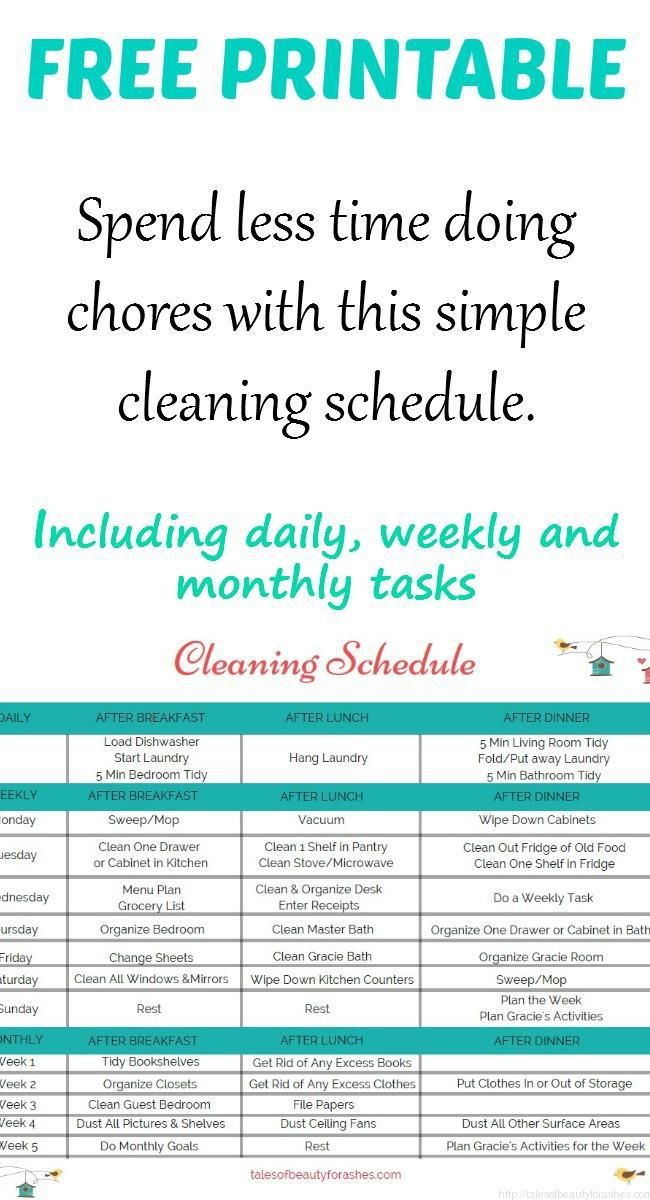 This Simple Cleaning Schedule Makes Household Chores A Breeze