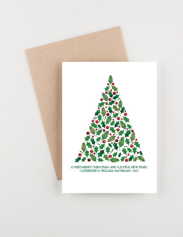 Boughs of holly holiday 2015 christmas and new years greetings card boughs of holly holiday 2015 christmas and new years greetings card by seahorsebendpress on etsy m4hsunfo