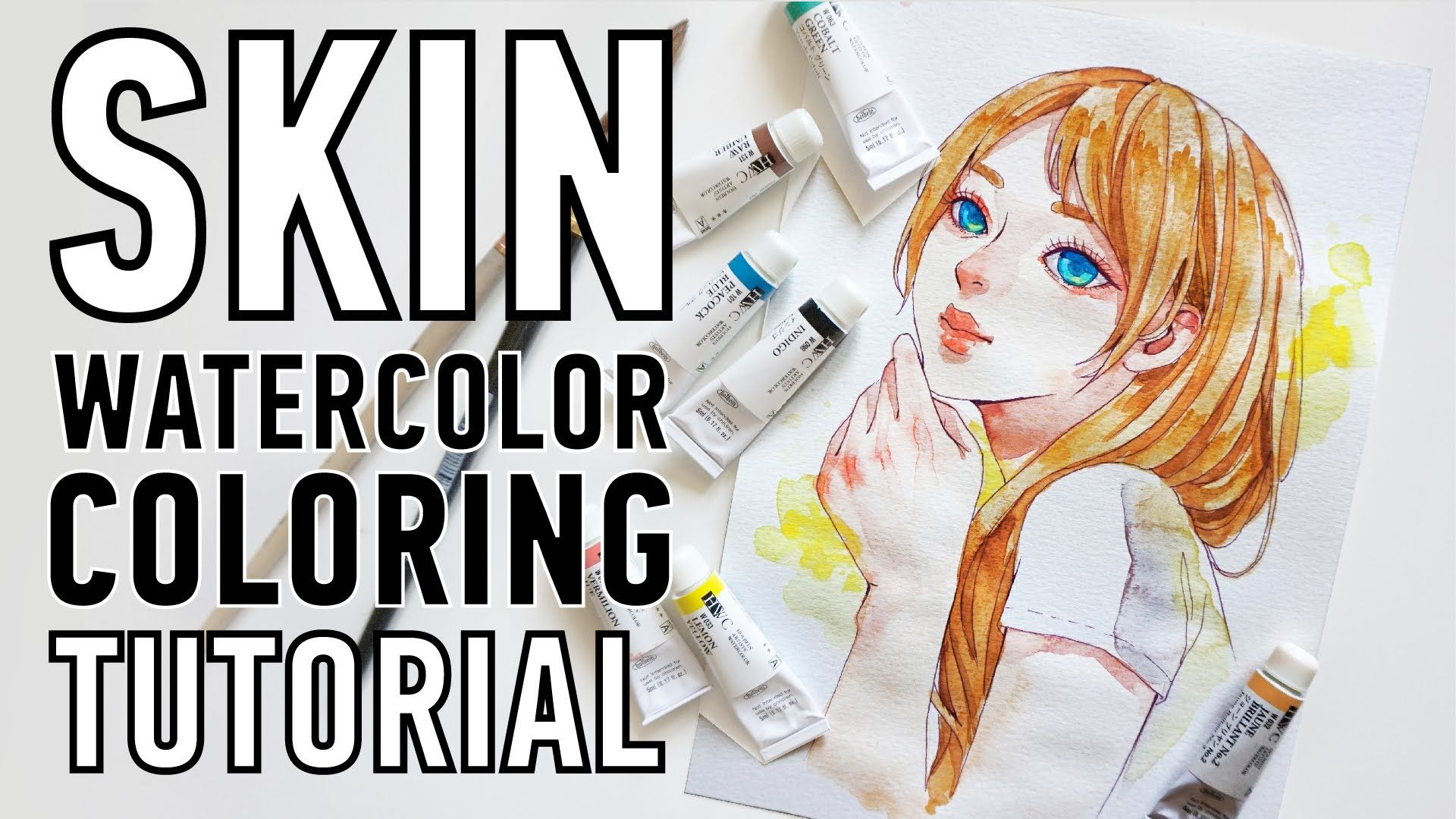 Skin Watercolor Coloring Tutorial Watercolor Skin Tones
