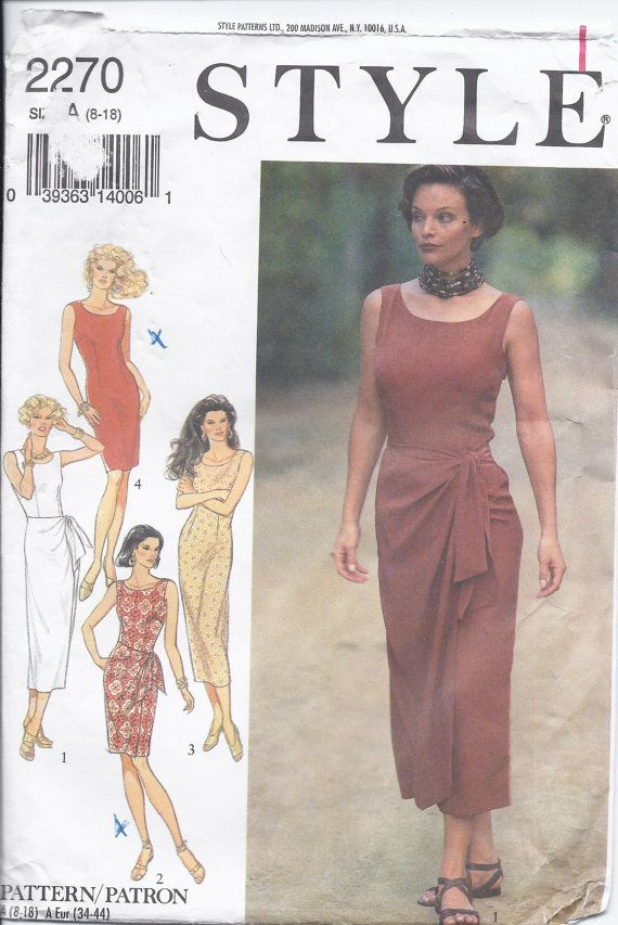 Vintage Style Pattern 2270 Misses Dresses Fitted Sleeveless Back V Neckline Sheath Long Or Short S Pattern Fashion Vintage Fashion Classic Sewing Patterns