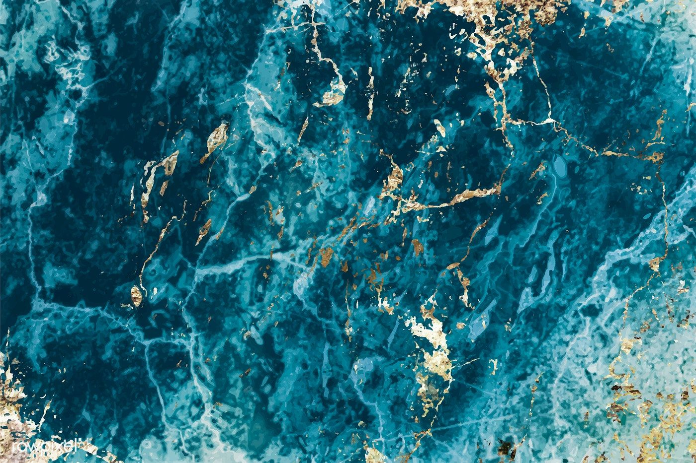 Blue And Gold Marble Textured Background Vector Free Image By Rawpixel Com Eyeeyeview Marble Texture Textured Background Gold Marble