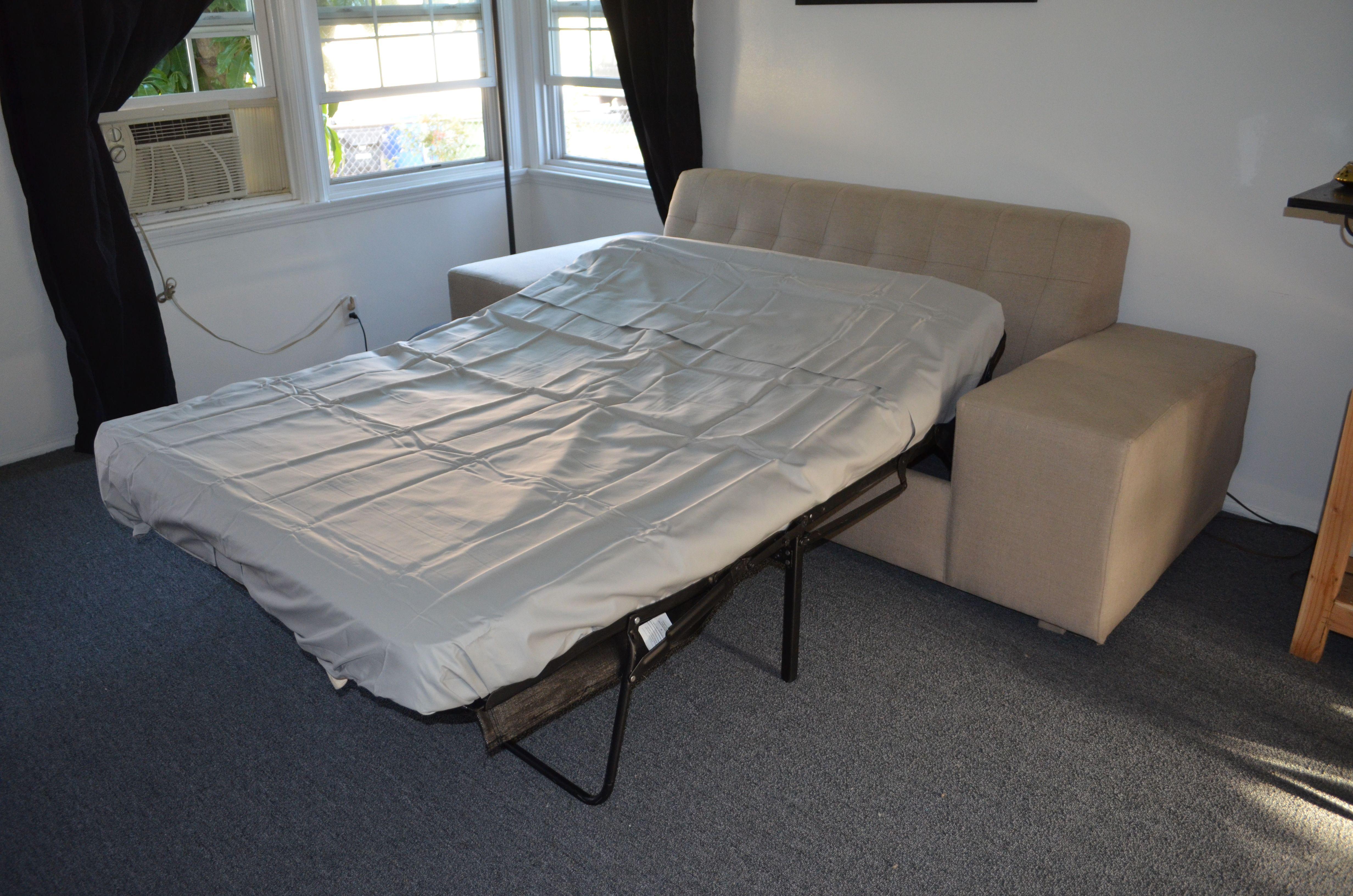 Custom Designed Tufted Sleeper Sofa.