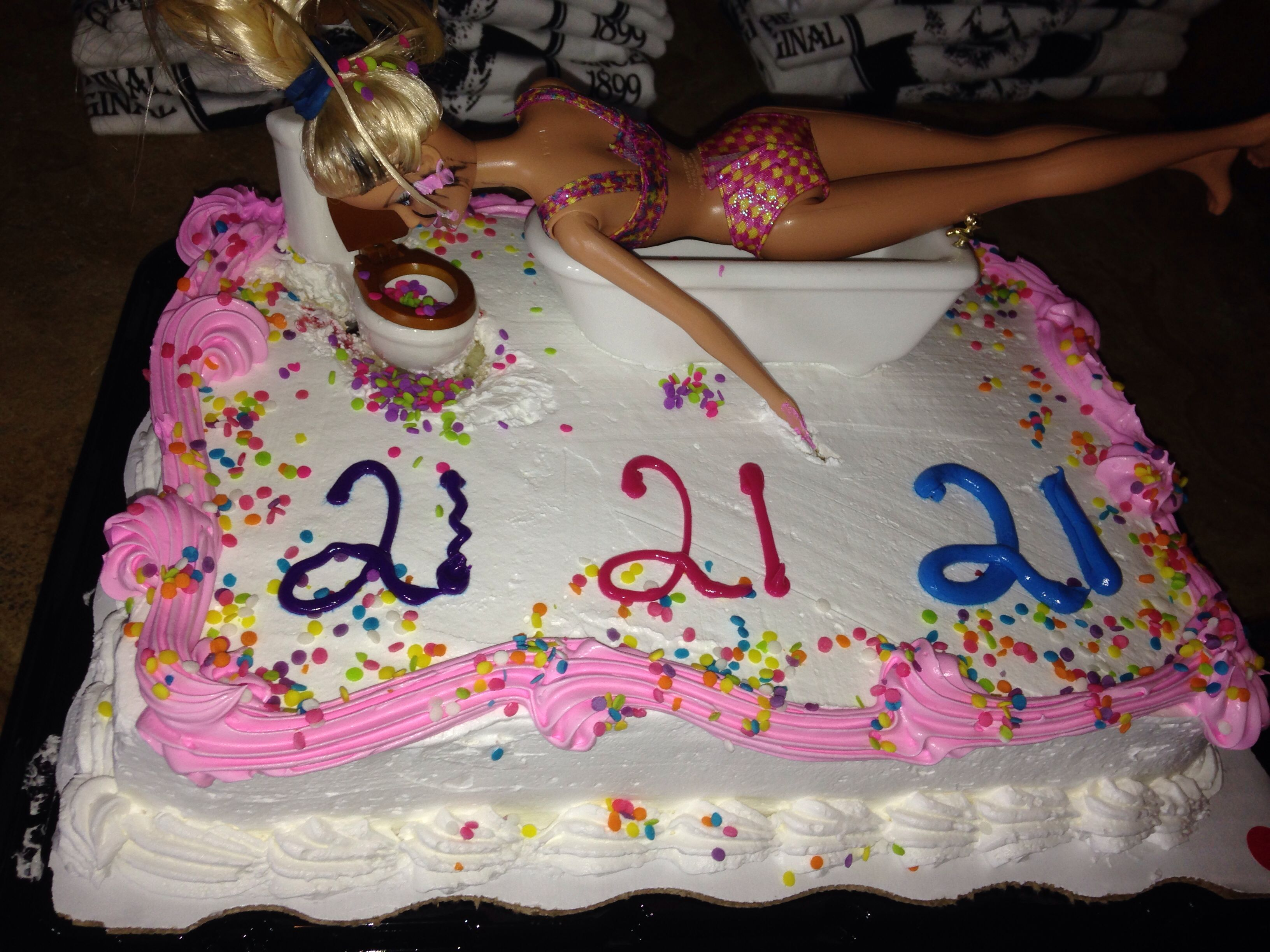21 Figure Birthday Cakes: Best Friends 21st Birthday Cake #21 #birthday #cake #puke