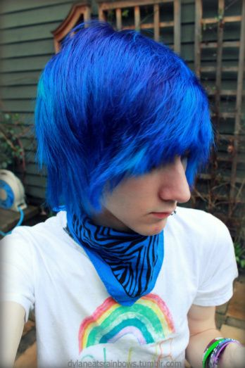 Blue Haired Emos For Boys Dylan Frick Tumblr We Heart It