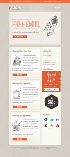 Cool Email Email Design Template Pinterest Email Design