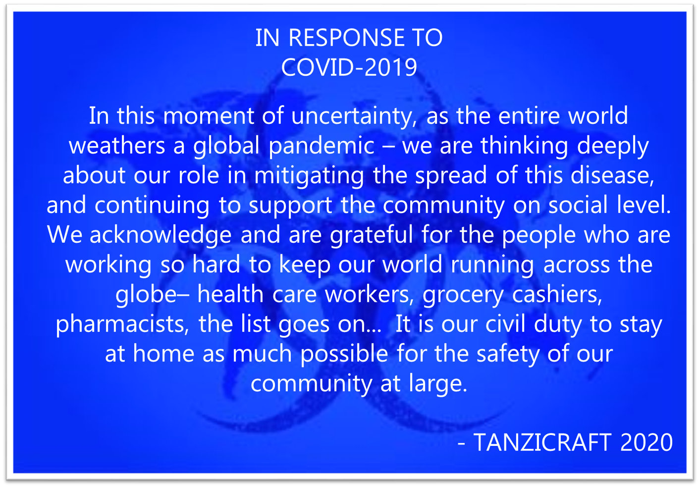 #gocorona #safety #socialmediamarketing #social #life #nopanic #world #diseaseprevention #tanzicraft #tanzicrafts