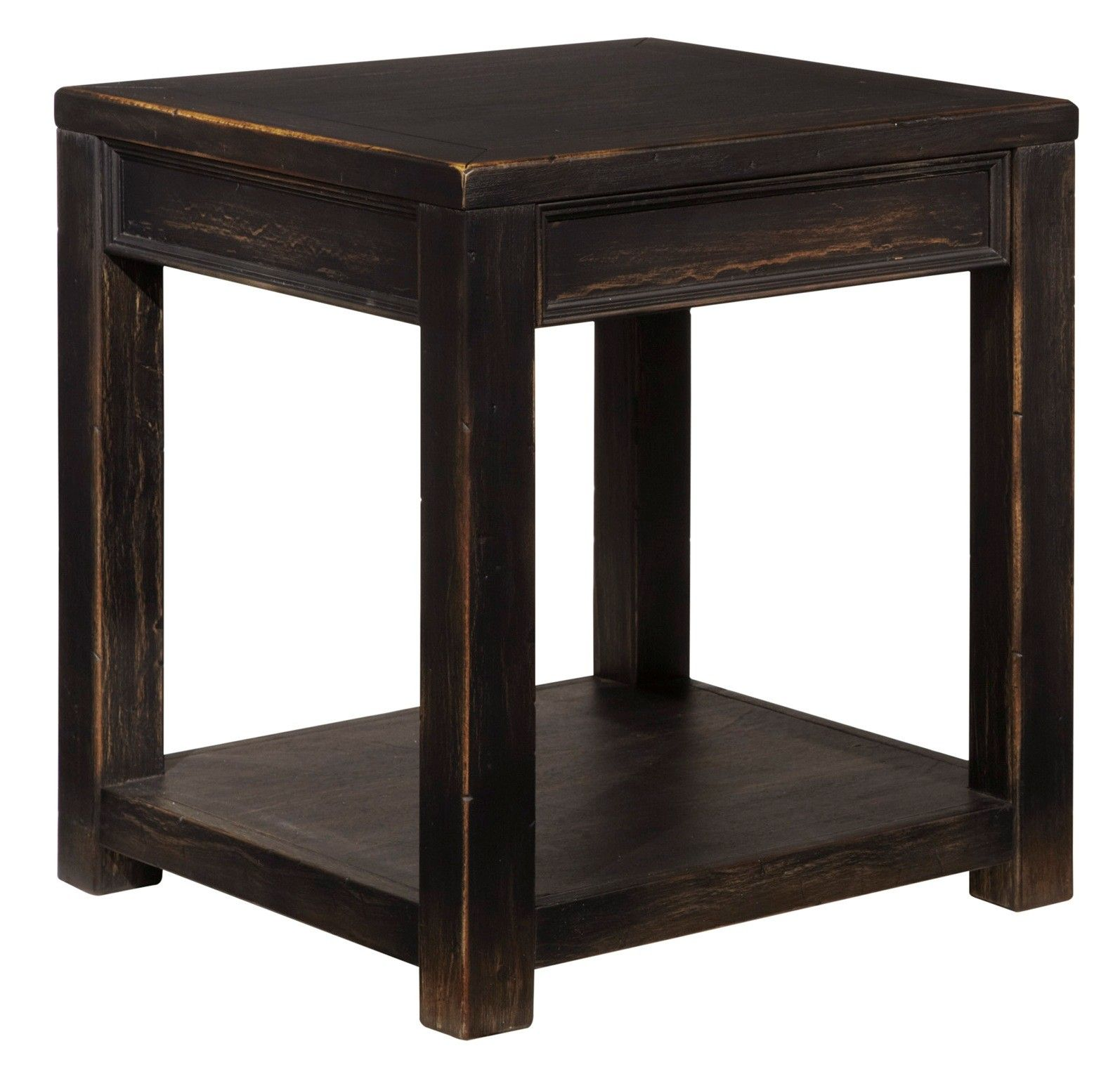 Gavelston Black Square End Table End Tables Black End Tables