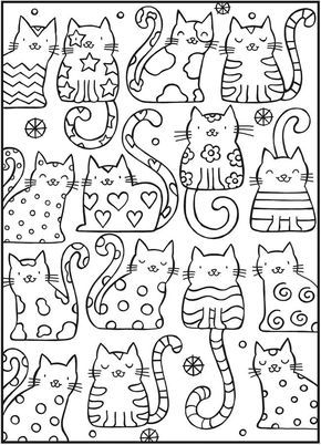 Coloring SPARK Up The Cats With This Cool Book Four Free Examples To Download And For Sale By Great Publisher Dover Publications