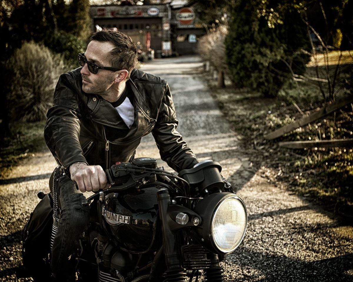 Vanson leather motorcycle gloves -  Vanson Chopper Leatherjacket Biker Jacketsleather