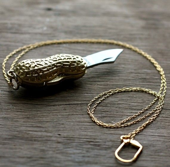 peanut knife necklace