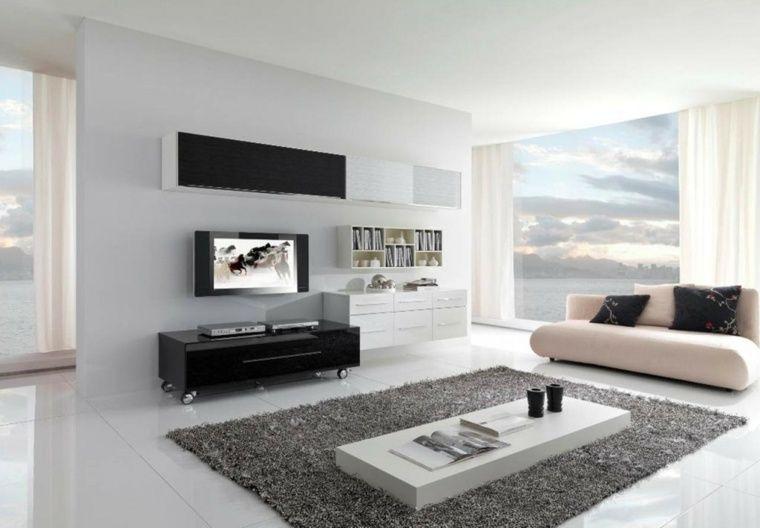 salon moderne gris harmonie esthtique - Salon Design Sol Gris
