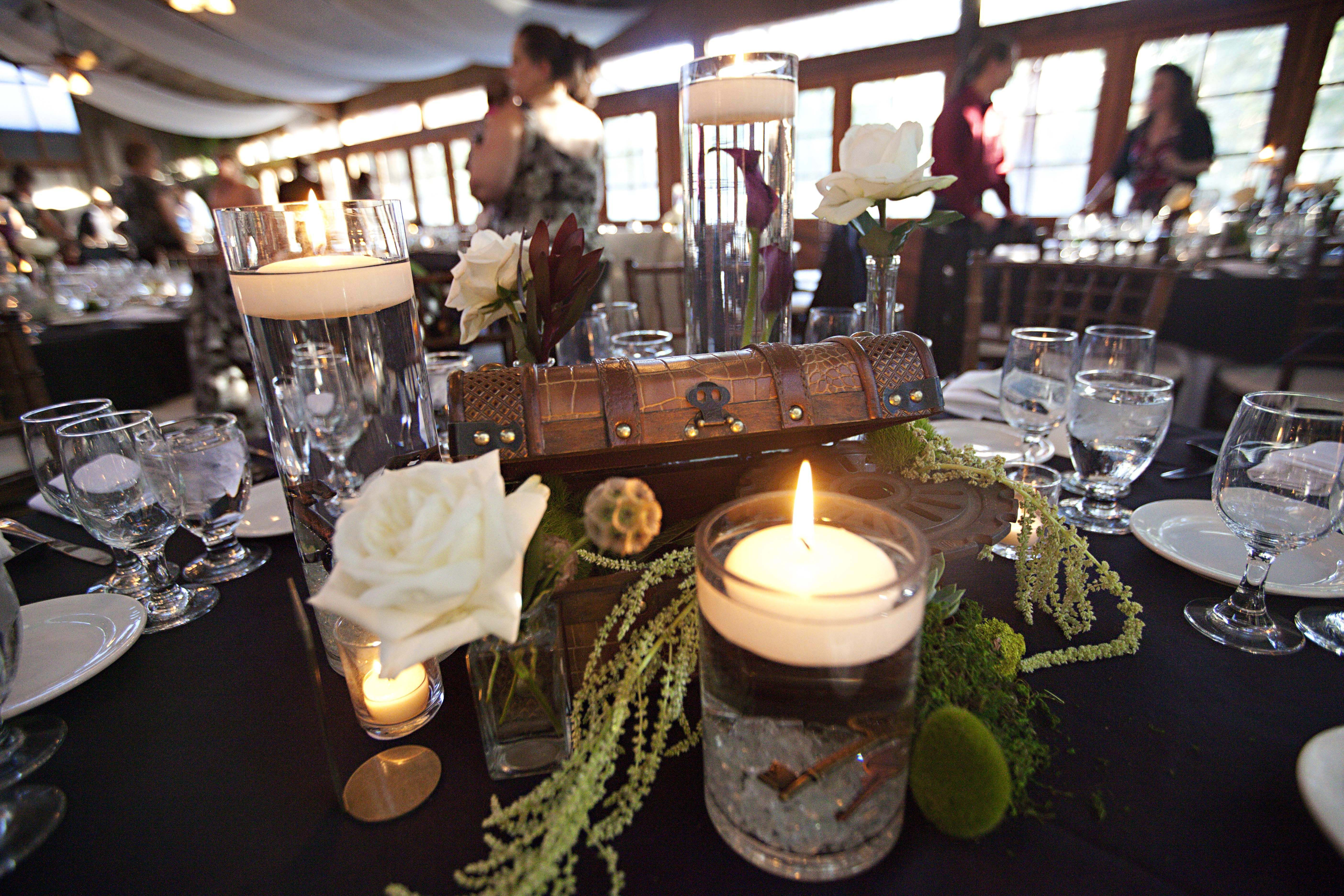 Amusing Simple Steampunk Wedding Centerpieces With Candles