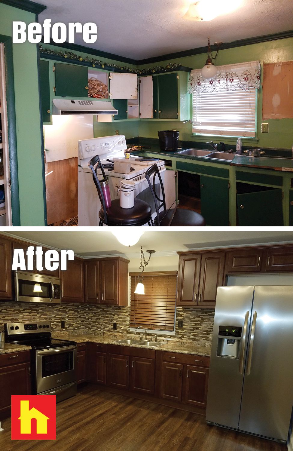 Kitchen Makeover With Before And After Picture Bathrooms Remodel Remodel Home