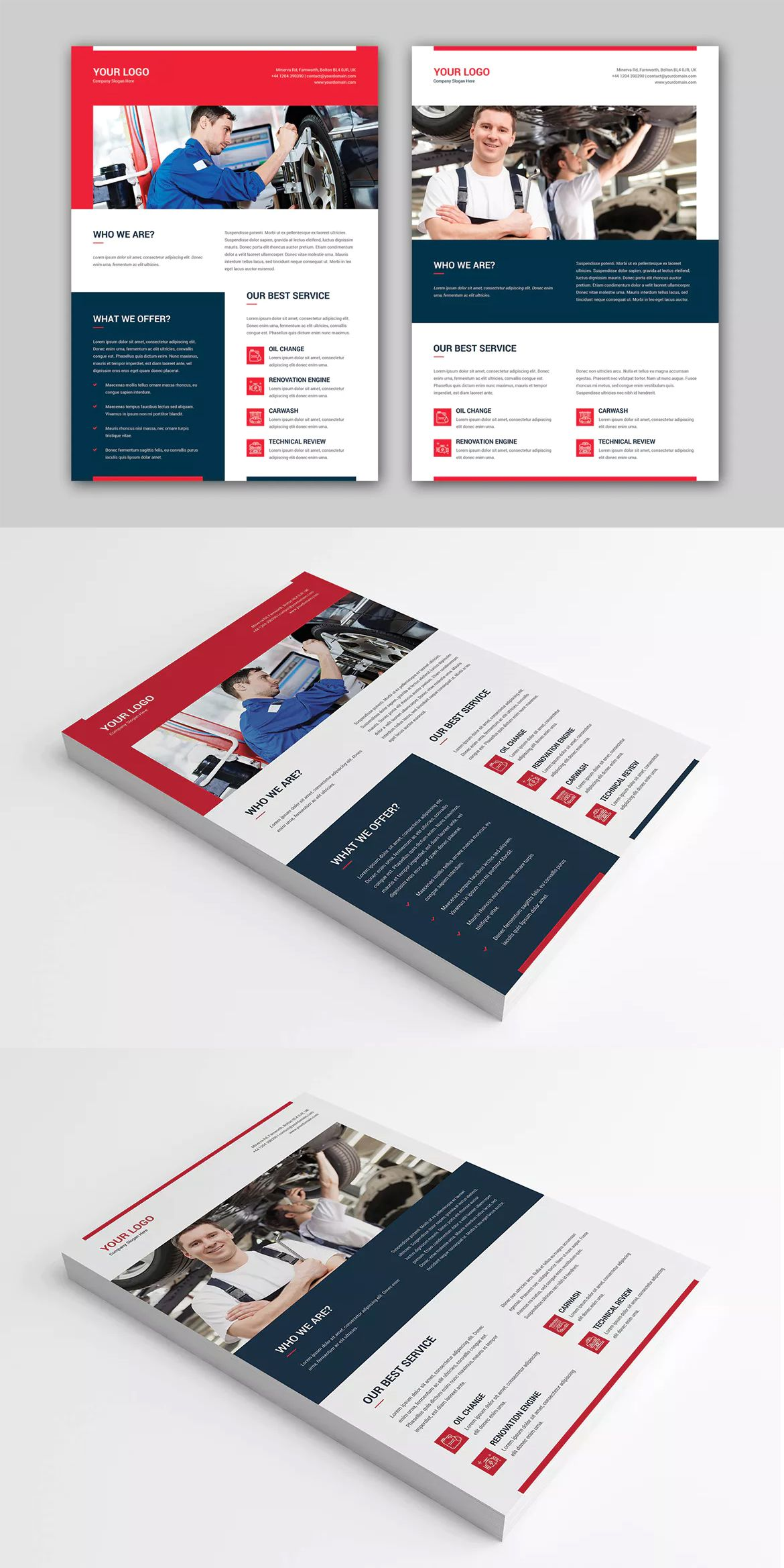 auto repair flyer template psd a4 flyer templates pinterest