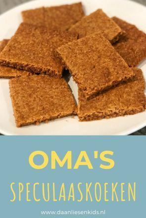 Speculaas recept volgens oma - koekjes bakken