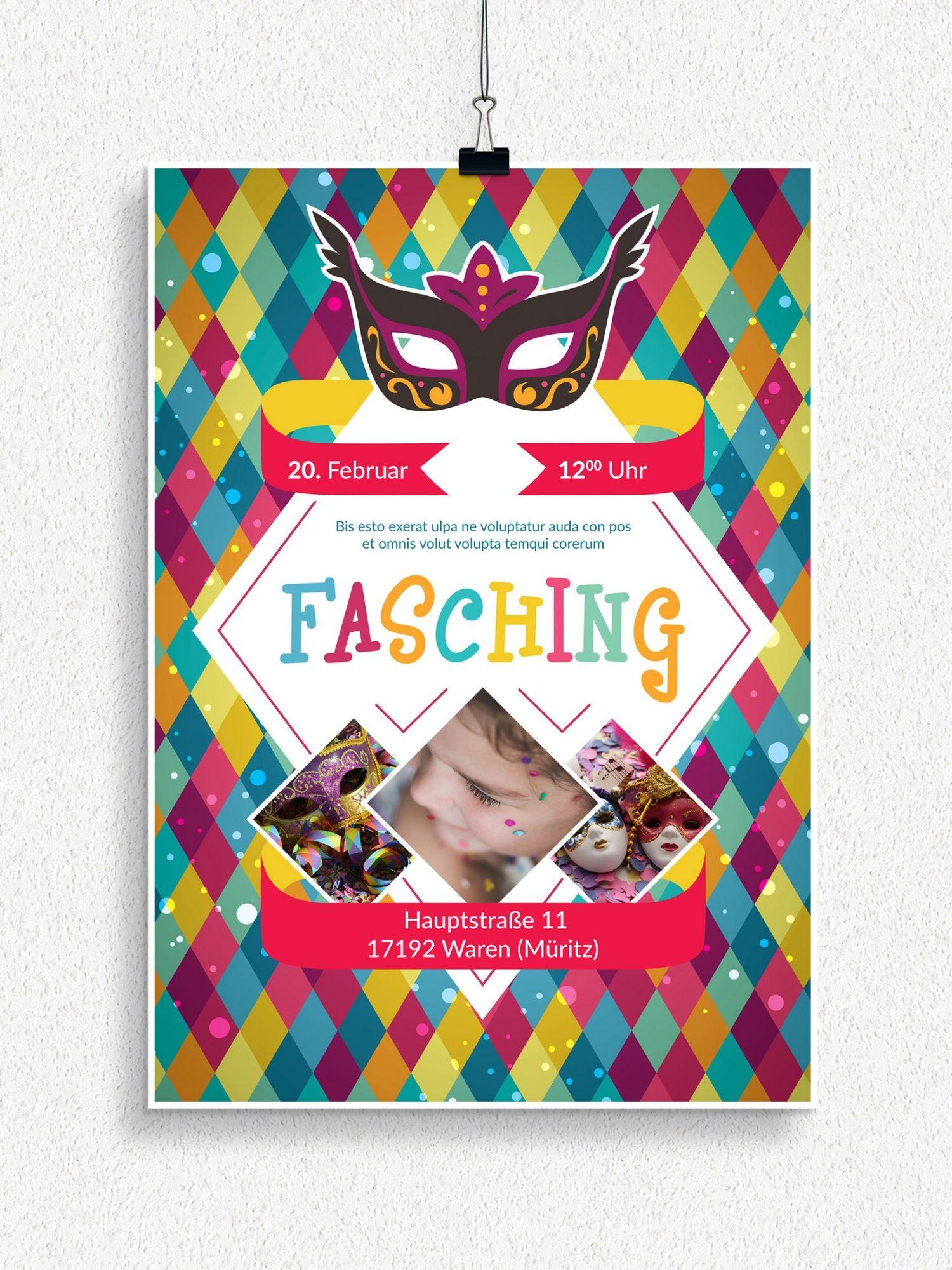 Plakat Und Flyervorlagen Fur Karneval Und Fasching Design Co