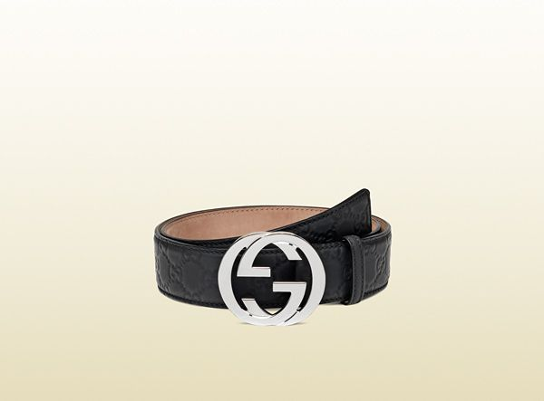 e7a3dd02a45d Gucci belt with interlocking G buckle Double G, Black Leather Belt, Leather  Belts,