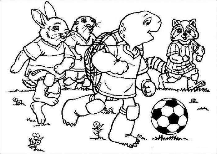 Franklin playing soccer Soccer Coloring Pages Pinterest