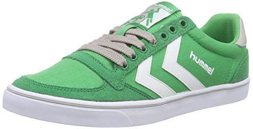 Slimmer Stadil Duo Oiled Low, Sneakers Basses Mixte Adulte, Vert (Rosin), 39 EUHummel