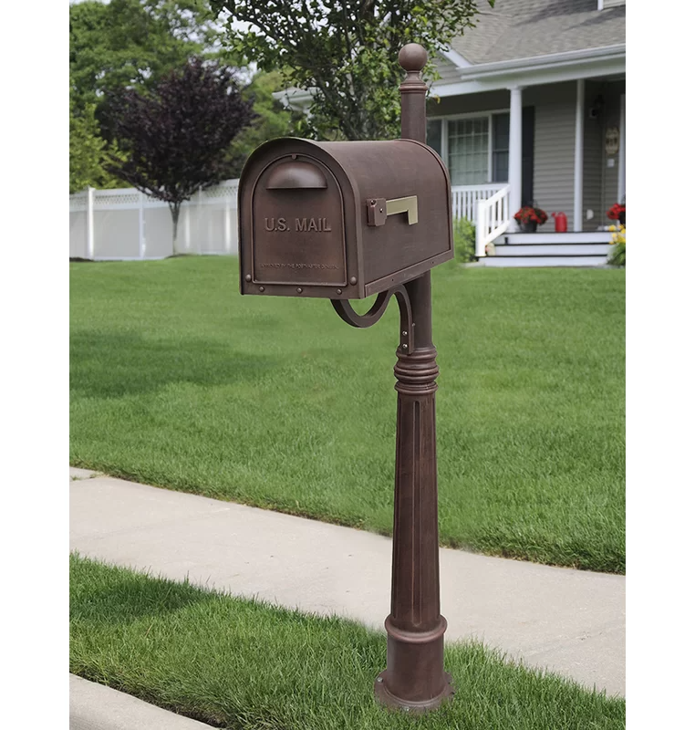 Classic Mailbox With Post Included Classic Mailbox Mounted Mailbox Mailbox Post