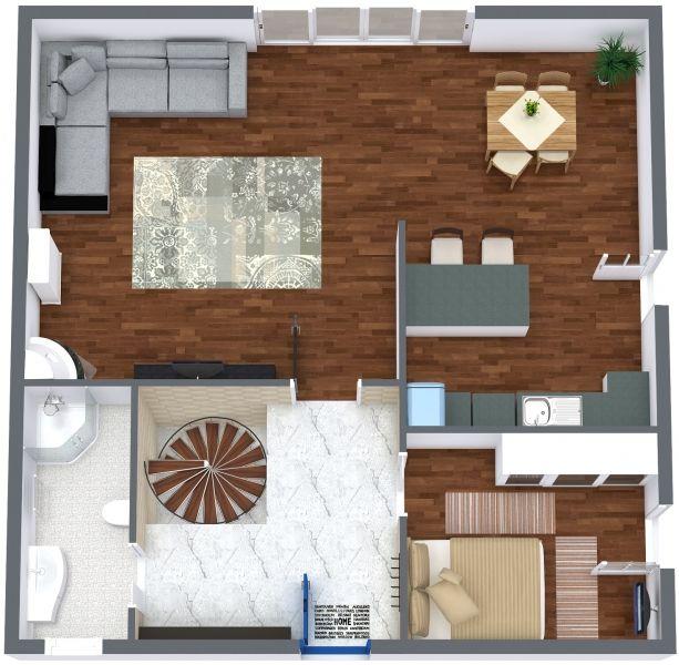 das richtige - 1. Boden - 3D Floor Plan