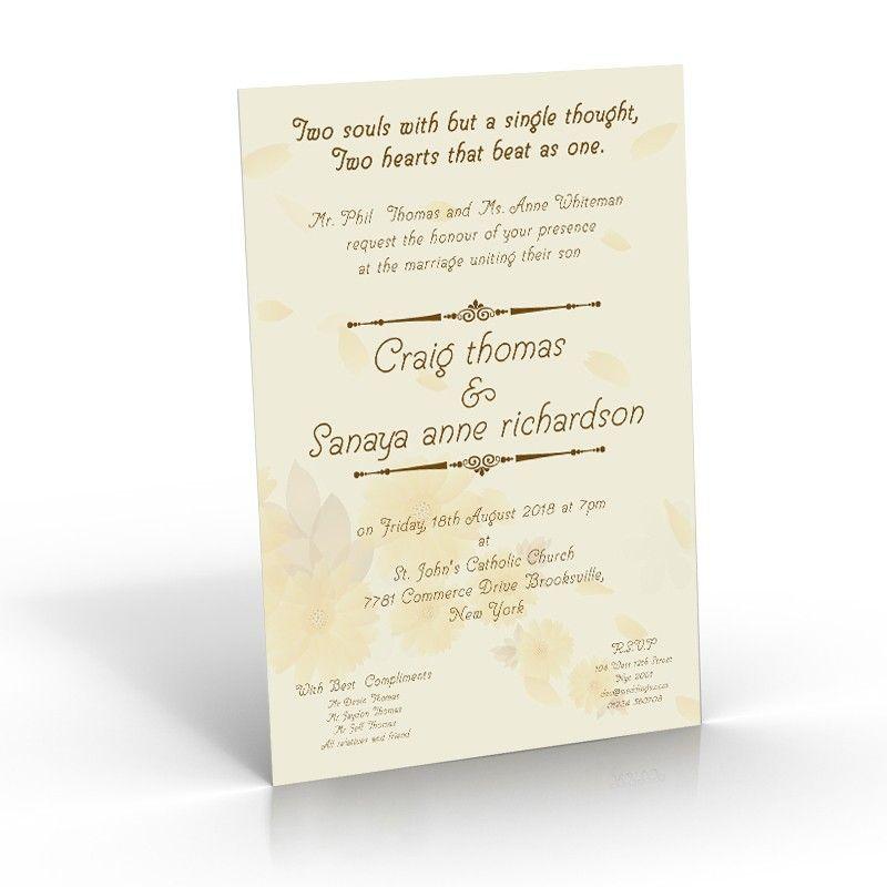 Freesia Fields - A5 - wedding invitation printers | Amazing ...