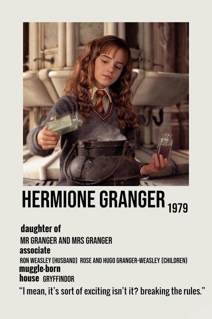 hermione granger minimalist poster