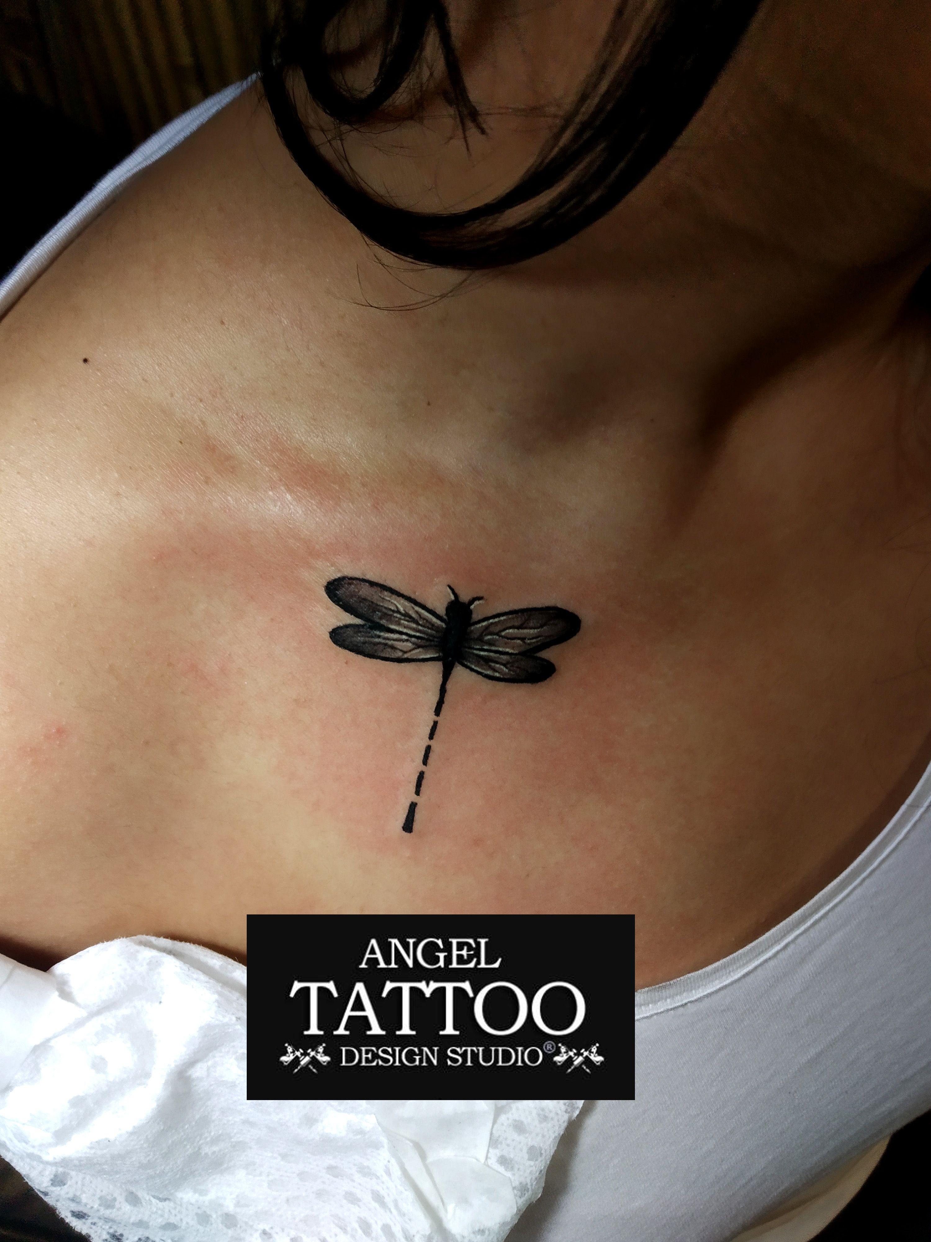 Dragonfly tattoo made at angel tattoo design studio