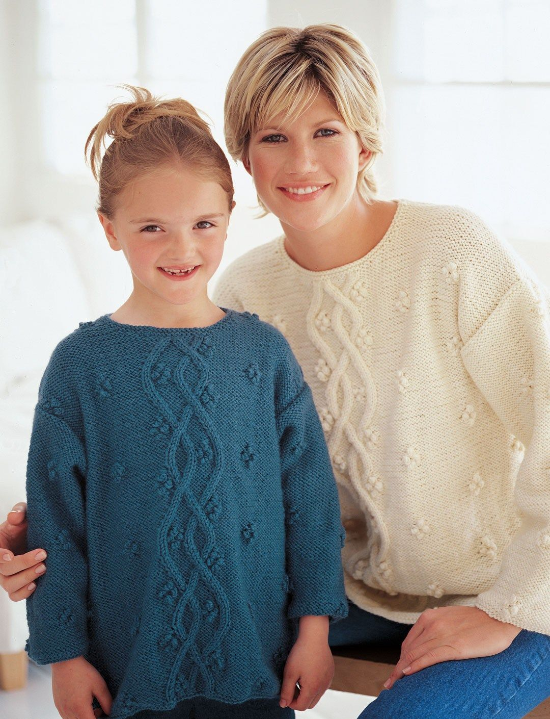 ef6607cc3 Free knitting pattern for Just Like Mom Pullover - This long-sleeved ...