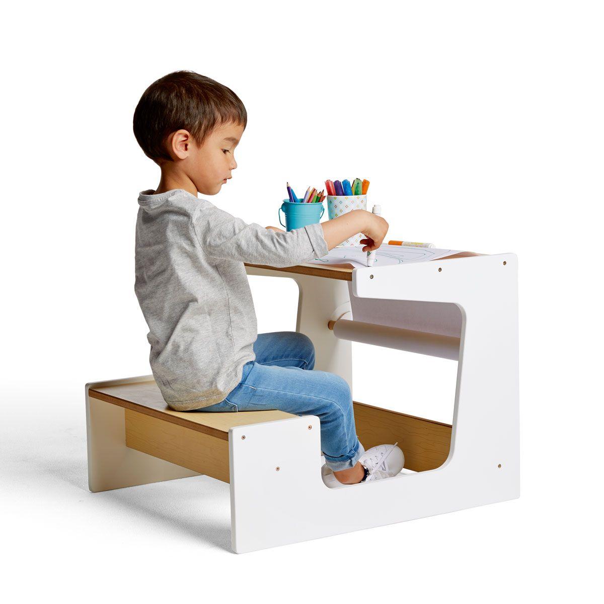 Bureau Enfant 2 Ans petit bureau naturel blanc izibul création oxybul | petit