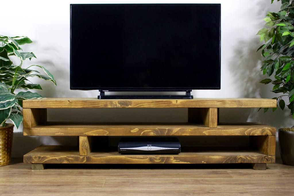 Rustic Hartington Widescreen Tv Unit
