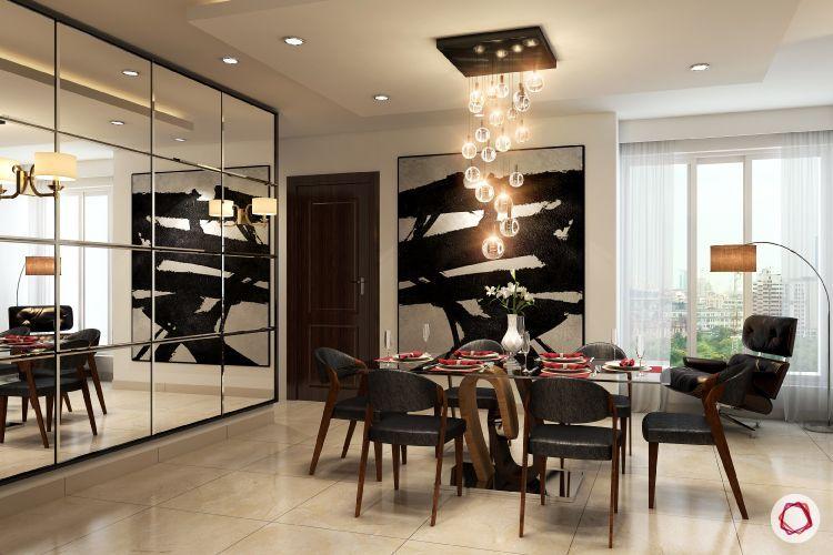 Vastu Shastra Tips For Mirror Placement At Home In 2020 Modern Bedroom Lighting Dining Room Decor Living Room Decor Modern